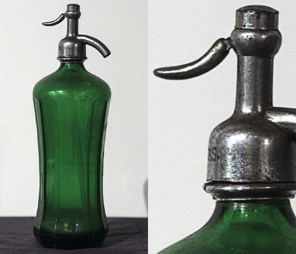 Green Glass Seltzer Bottle